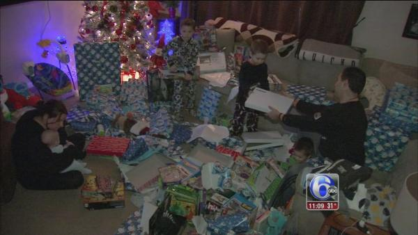 NE Philly family shares their Christmas morning