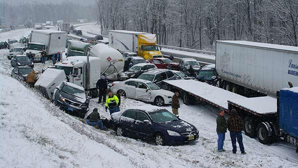 Crash on Pennsylvania Turnpike