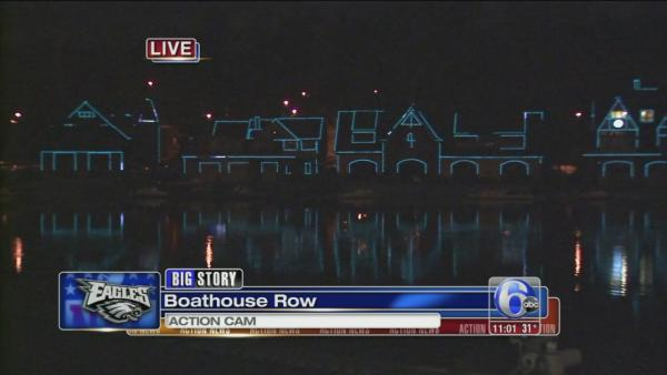 Eagles green shines across Philly