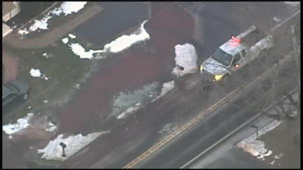 Water main bursts in Sellersville, Bucks Co.