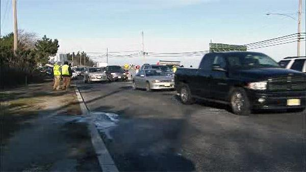Water main break slows traffic in A.C.