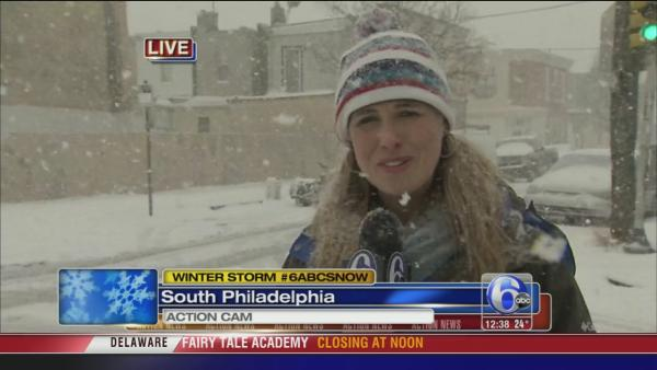Katherine Scott on snow in South Phila.