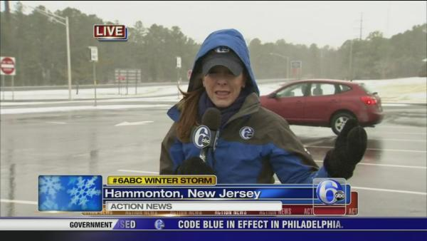 Annie McCormick on snow on the AC Expwy