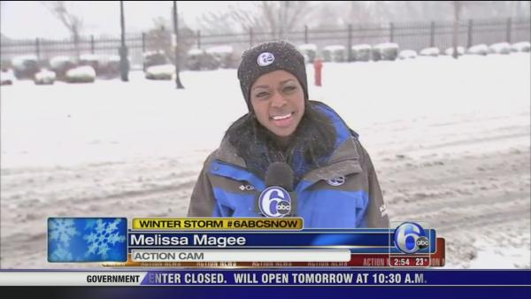 Melissa Magee on City Ave. in Philadelphia