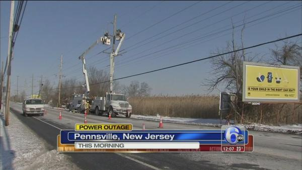 Crash causes power outage in Salem Co.