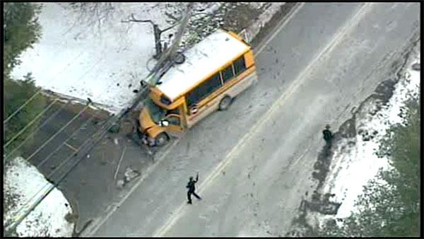 Seizure leads to school bus crash in Delco