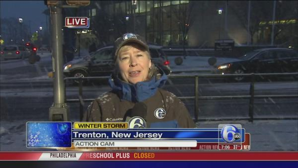 Nora Muchanic on snow in Trenton