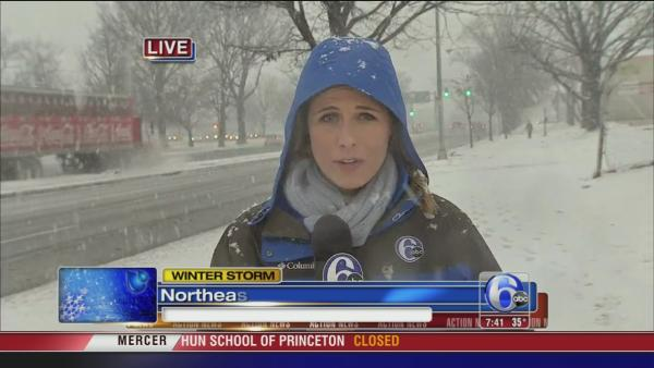 Katherine Scott on snow in NE Phila.