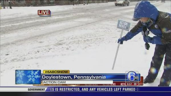 Amy Buckman: Snow piling up in Doylestown