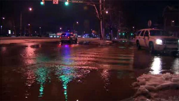 Water main break on Roosevelt Blvd.