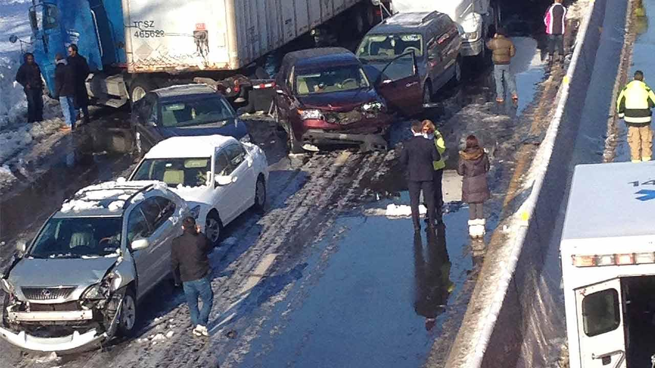 Photos of the Pa. Turnpike Accident wreckage sent in by Action News viewer L. Miller.