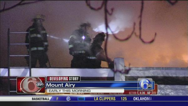 Fire forces family from home in Mt. Airy