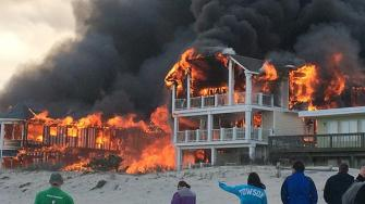 Big fire burning in Sea Isle City