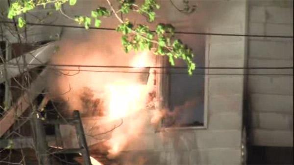 Family escapes burning home in Bucks County