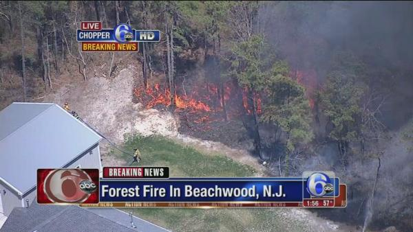 On-air coverage of Ocean County fire