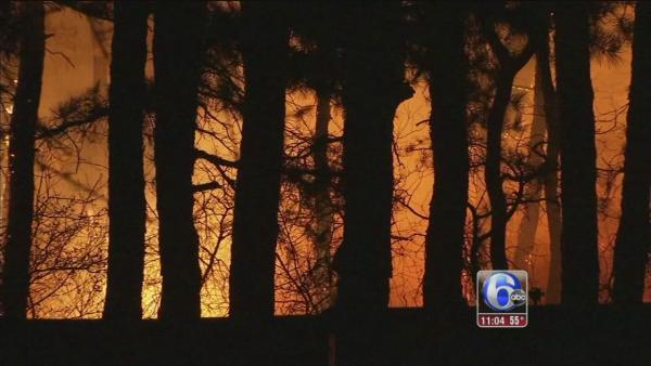 Ocean County forest fire fully contained