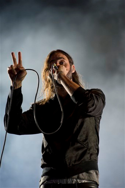 "Miike Snow performs at the ""Made In America"" music festival on Saturday Sept. 1, 2012, in Philadelphia. (Photo by Drew Gurian/Invision/AP)"