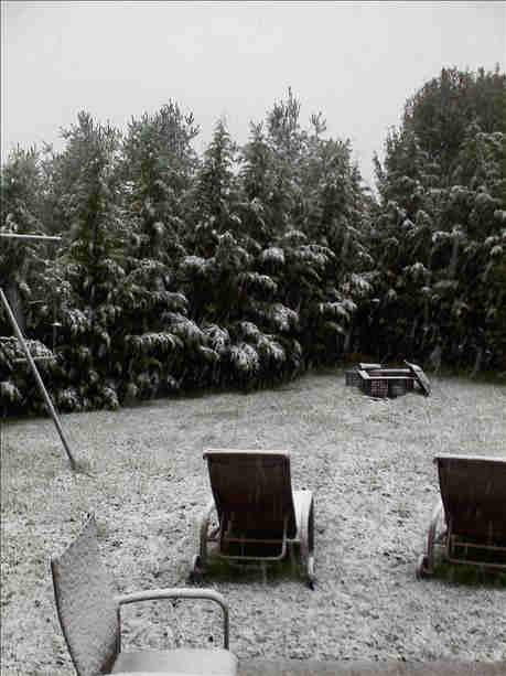 Action News viewer Lorna sent in this photo from the first snowfall of the season in Schwenksville, Pa.