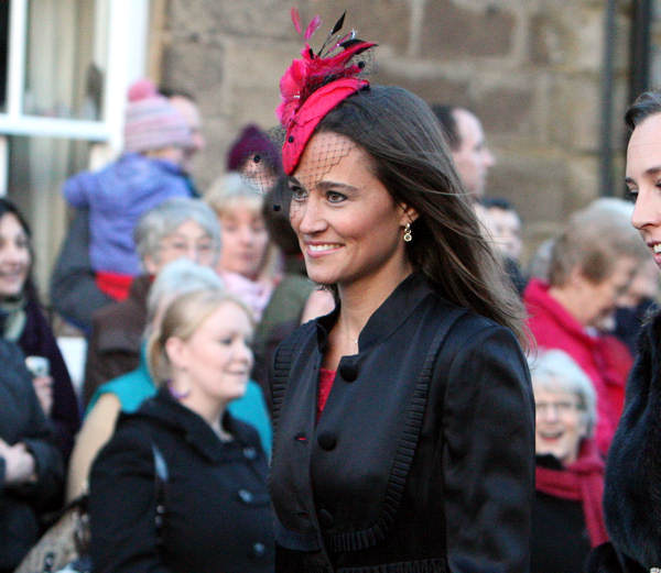 Britain&#39;s Pippa Middleton, sister of Kate Middleton, arrives at the wedding of the Duke and Duchess of Northumberland&#39;s eldest daughter Lady Katie Percy to city financier Patrick Valentine at St Michael&#39;s Church in Alnwick, England, Saturday, Feb. 26, 2011.  <span class=meta>(AP Photo&#47;Scott Heppell)</span>