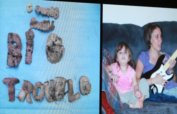 An image displayed on a courtroom monitor shows a photo entered into evidence in the Casey Anthony trial at the Orange County Courthouse on Friday, June 10, 2011. Photo on the left shows wording found on a shirt. The photo on the right shows Caylee Anthony with her mother Casey. Caylee is wearing a shirt with the same lettering. Anthony, 25, is charged with killing her daughter Caylee in the summer of 2008. &#40;AP Photo&#47;Joe Burbank, Pool&#41; <span class=meta>(AP Photo&#47; Joe Burbank)</span>