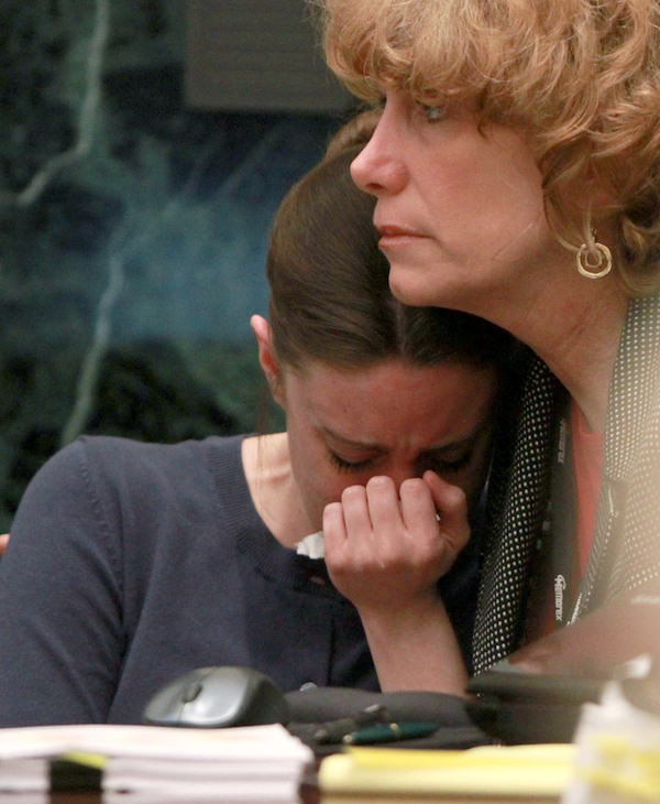 Casey Anthony is comforted by her attorney Dorothy Clay Sims during Anthony&#39;s murder trial at the Orange County Courthouse, Friday, June 10, 2011 in Orlando, Fla. Anthony, 25, is charged with killing her daughter Caylee in the summer of 2008. &#40;AP Photo&#47;Joe Burbank, Pool&#41; <span class=meta>(AP Photo&#47; Joe Burbank)</span>