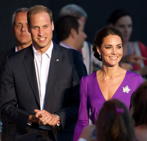 Prince William and Kate, the Duke and Duchess of Cambridge, arrive at a Canada Day celebration on Parliament Hill in Ottawa, Canada, Friday, July 1, 2011. (AP Photo/Charlie Riedel)