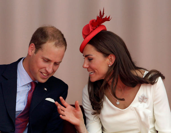 Prince William and Kate, the Duke and Duchess of Cambridge during a Canada Day celebration on Parliament Hill in Ottawa, Canada, Friday, July 1, 2011. (AP Photo/Charlie Riedel)