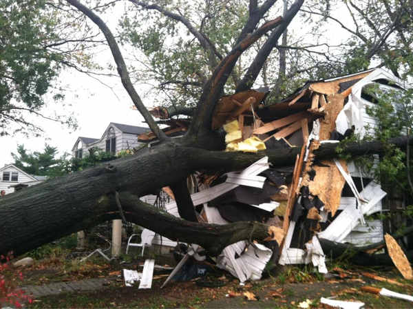 "<div class=""meta image-caption""><div class=""origin-logo origin-image ""><span></span></div><span class=""caption-text"">Twitter user @aquamarina45 sent us this dramatic picture of a tree that fell onto a house on Edgely Road in Levittown, Bucks County.</span></div>"