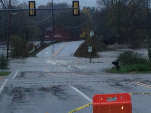 Action News viewer Julie Simmons sent us this image of flooding on Creek Road near Pocopson Road in West Chester.