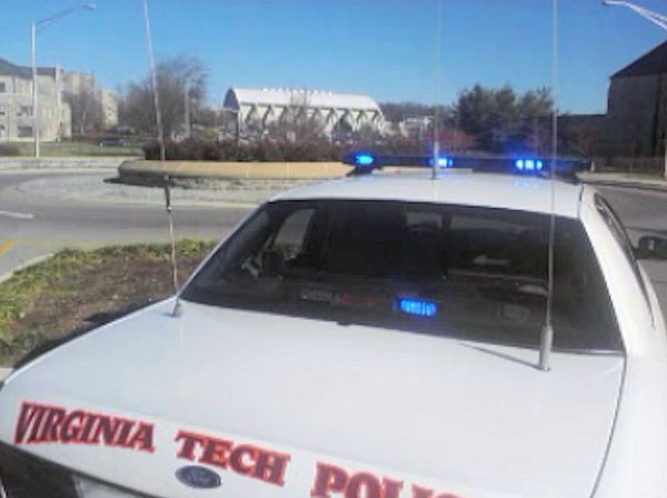 Pictured: The campus of Virginia Tech after a shooting on on December 8, 2011.