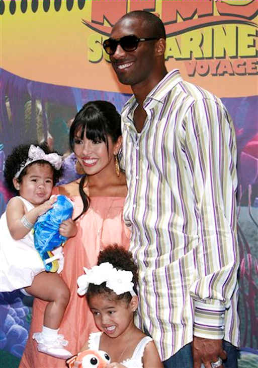 Los Angeles Lakers basketball player Kobe Bryant, right, and his wife, Vanessa, center, arrive with their daughters Gianna, left, and Natalia at the Finding Nemo Submarine Voyage Celebrity Preview at Disneyland Park in Anaheim, Calif. on Sunday, June 10, 2007.  <span class=meta>(AP Photo&#47;Matt Sayles)</span>