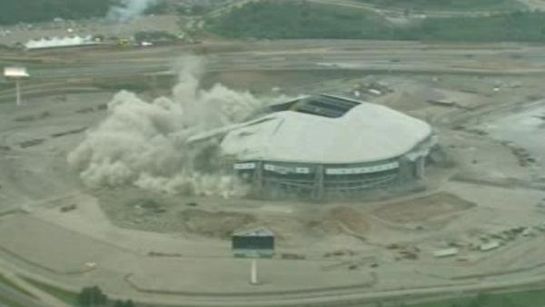 Former home of Dallas Cowboys imploded