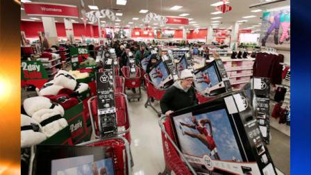 Shoppers take advantage of Black Friday sales in the early morning at a Target store Friday, Nov. 26, 2010, in Chicago. The store opened at 4 a.m. on Friday. (AP Photo/Kiichiro Sato)