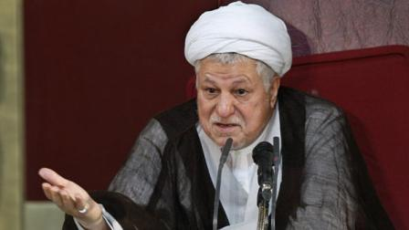 Head of Irans Experts Assembly, Ayatollah Akbar Hashemi Rafsanjani addresses a seasonal meeting of the assembly, in Tehran, Iran, Tuesday, Sept. 14, 2010. The 86-member all-cleric assembly has the right of choosing and dismissing the supreme leader, who has the final say on all state matters.