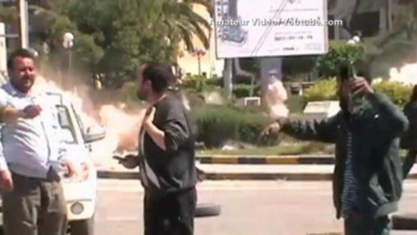 Libyan blast caught on camera