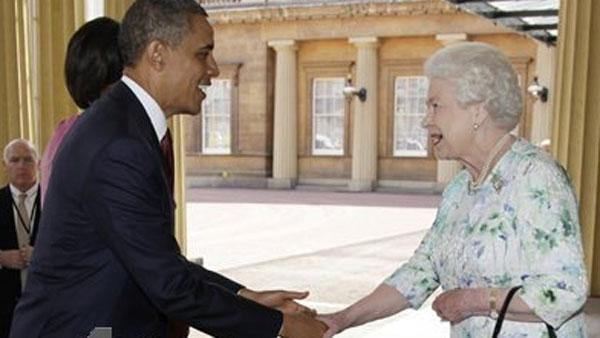 President Barack Obama and Queen Elizabeth II
