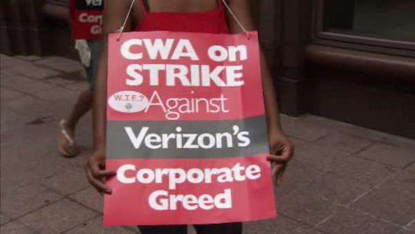 Day 1 of Verizon strike