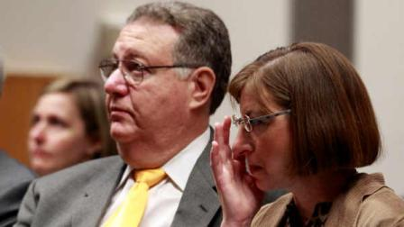 Jane Clementi, right, and her husband, Joseph Clementi, left, attend a symposium on use and misuse of social media at Rutgers University, Monday, Nov. 14, 2011, in Piscataway, N.J. Their son, Tyler Clementi, was in his first weeks as a student at Rutgers in September 2010 when he killed himself after a roommate allegedly used a webcam to spy on Clementis intimate encounter with another man. The family has started a foundation in their sons honor to address cyberbullying. The foundation was a co-sponsor of the symposium.