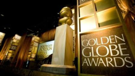 The Golden Globe awards logo and statuette.