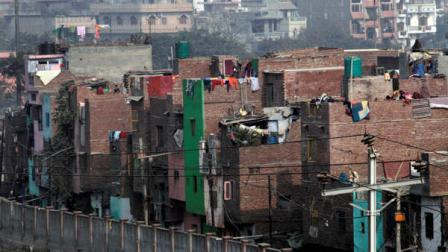 This Dec. 20, 2011 photo shows congested houses built close to each other in Indias most crowded northeast district of New Delhi, India. If a major earthquake were to strike Indias seismically vulnerable capital, this neighborhood, home to 2.2 million people and Indias most crowded district, would likely collapse into an apocalyptic nightmare.