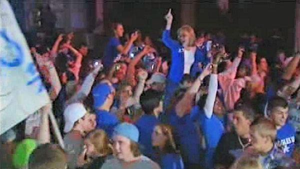Kentucky fans celebrate NCAA victory