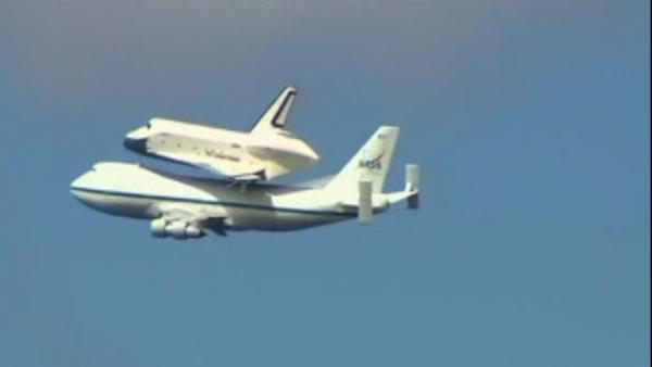Space Shuttle Enterprise arrives in NYC