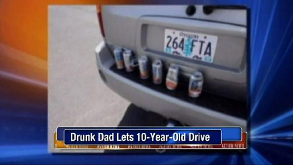 Police: Drunk dad let 10-year-old drive