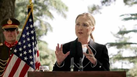 U.S. Secretary of State Hillary Rodham Clinton speaks during a joint press conference with Afghan President Hamid Karzai, not pictured, at the Presidential Palace in Kabul, Afghanistan, Saturday, July 7, 2012. Clinton announced that President Barack Obama had designated Afghanistan as a major non-NATO ally shortly after arriving in the country for talks with Karzai. (AP Photo/Ahmad Jamshid)
