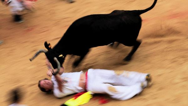 Cherry Hill man gored during running of bulls