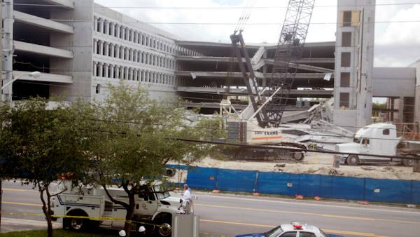 1 dead, 1 trapped in Fla. parking garage collapse