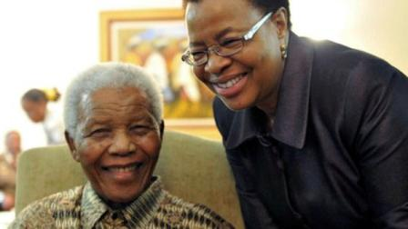 FILE This May 16, 2011 file photo supplied by the South African Government Communications and Information Services, GCIS, shows former South African President Nelson Mandela and his wife Graca Machel after they cast an early ballot in upcoming local elections at his home in Johannesburg, South Africa. (AP Photo/Elmond Jiyane-GCIS, File)