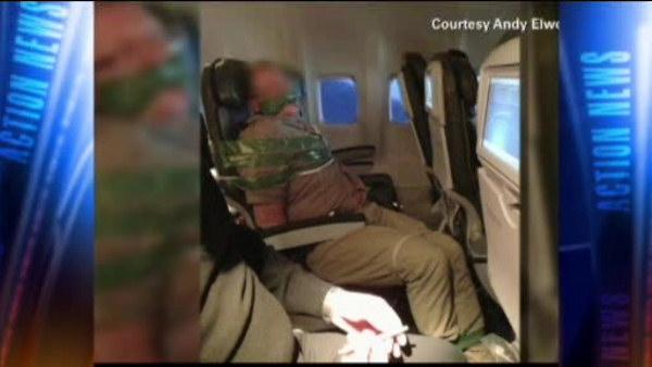 Passenger duct taped, restrained on flight to NYC