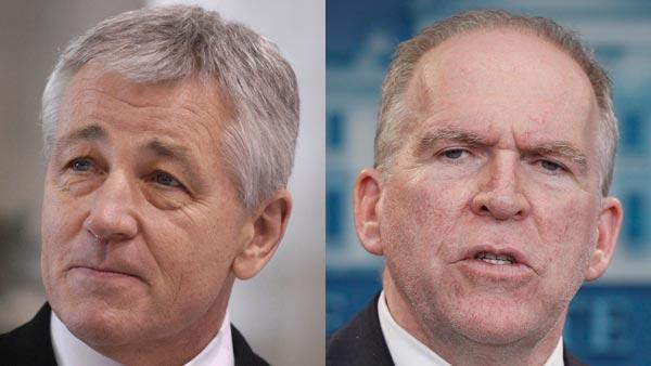 Obama taps Hagel for Pentagon, Brennan for CIA