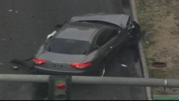 Shootout and crash in Las Vegas